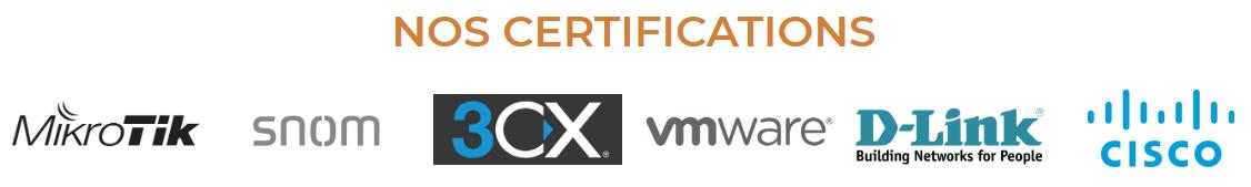 Mise à jour du site web (Certifications + Plan)